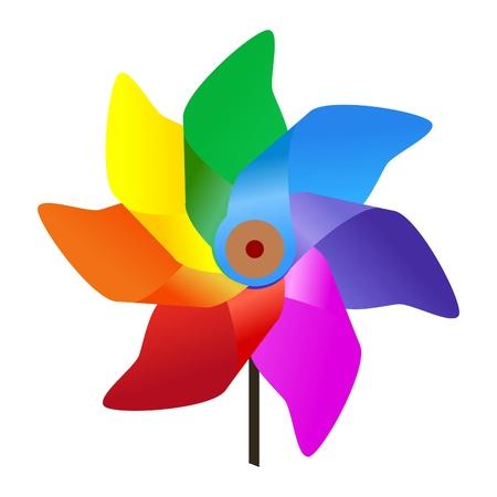 windmill: colores molino de viento Vectores