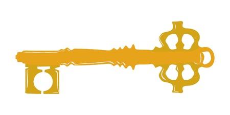 Vintage key Stock Vector - 10881933