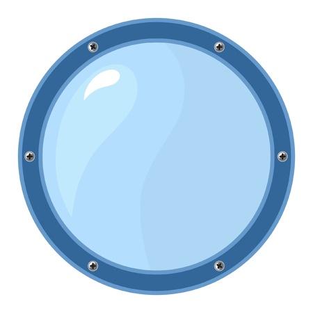 ventana ojo de buey: Ojo de buey sobre fondo blanco Vectores