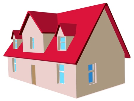 family house Stock Vector - 10926561