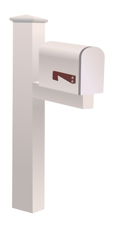mailbox on white Vector