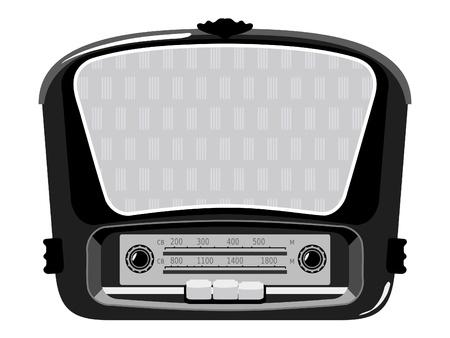 Vintage radio Stock Vector - 10926556