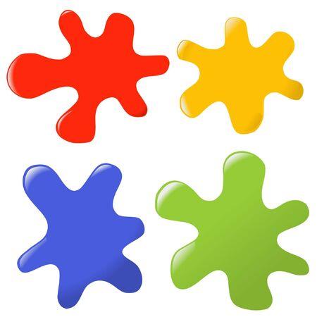 paint drop: colorful paints Illustration