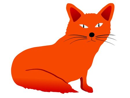 Funny character little fox in cartoon style Vector