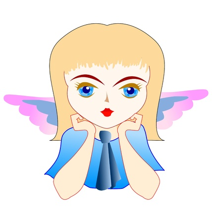 agreeable: One little nice girl with angel wings