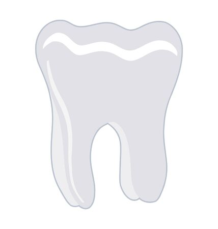 One healthy human tooth on white background Stock Vector - 10967511