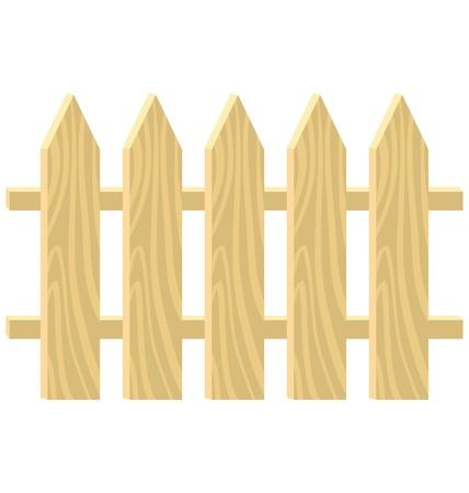 esgrima: Una valla de madera simple sobre fondo blanco Vectores