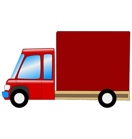 mini truck in side view on white Illustration