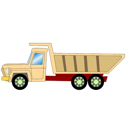 dump truck in side view on white Stock Vector - 11028683