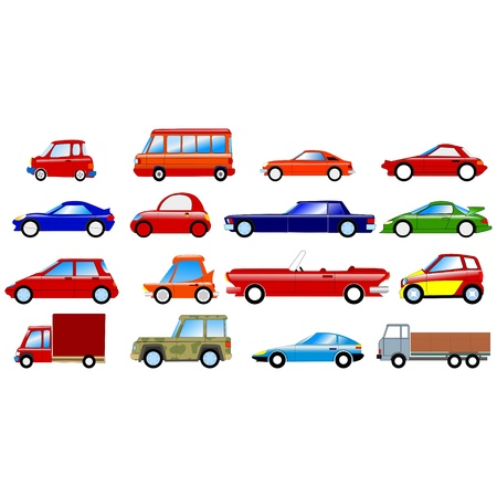 Big set of the different symbolic cars Vector
