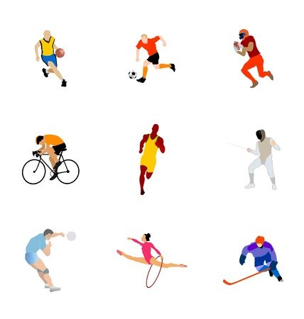 The set of the different kinds of sport Vector