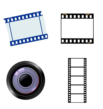 cinematic: The set of the photographic and cinematic objects Illustration