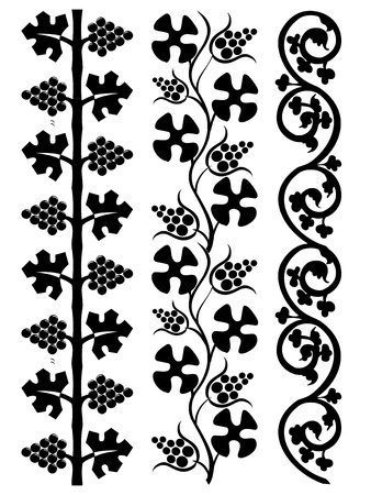 The set of the floral design elements Vector