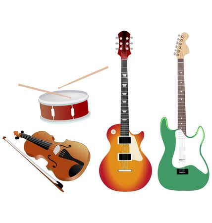 the set of the different musical objects Vector