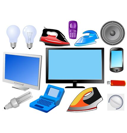 The set of the modern electronics Stock Vector - 11375946