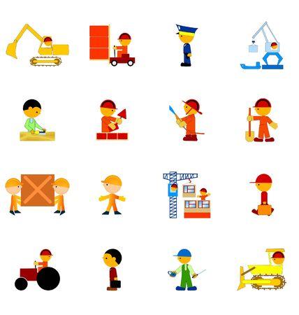 schlosser: der gro�e Satz von Ikonen der Arbeitnehmer