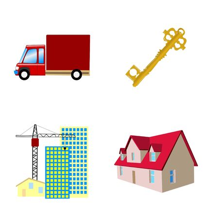 The set of the real estate icons Stock Vector - 11375949