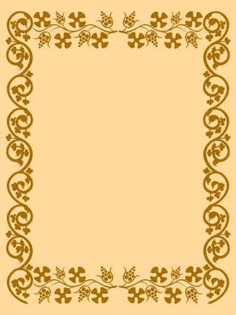 The vintage frame in the old style Stock Vector - 11376094