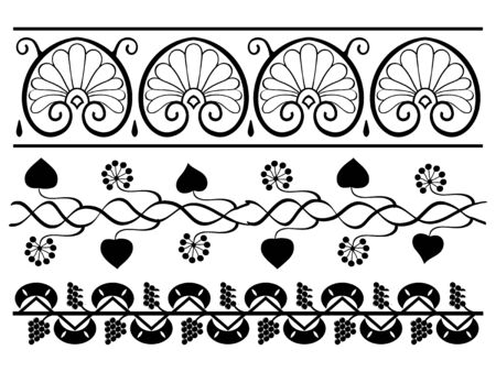 The set of the floral design elements Stock Vector - 11376095