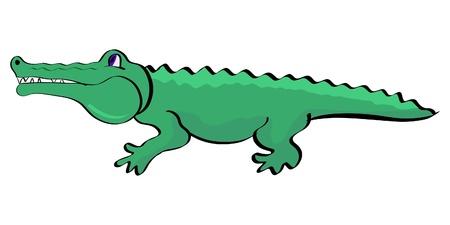Illustration of a crocodile in simple cartoon style Vector