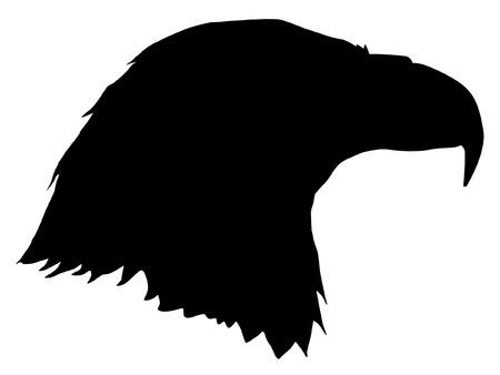 Illustration in style of black silhouette of eagle Vector