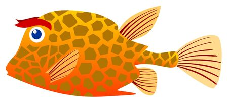 Illustration of trunkfish Vector