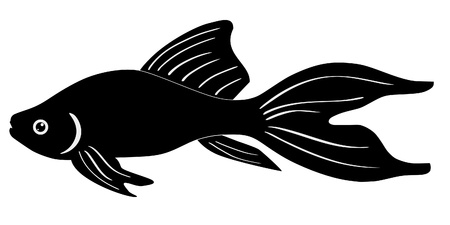 One colored illustration of a tropical fish Stock Vector - 11611504