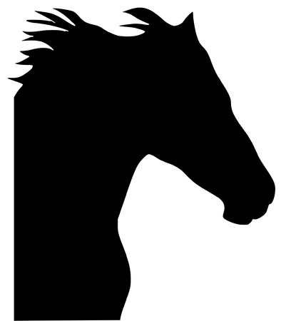 serie: a black silhouette of serie of animals, horse