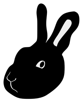 a black silhouette of serie of animals, rabbit Stock Vector - 11611526