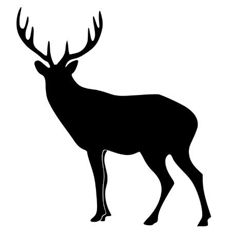 a black silhouette of serie of animals, deer Stock Vector - 11611712