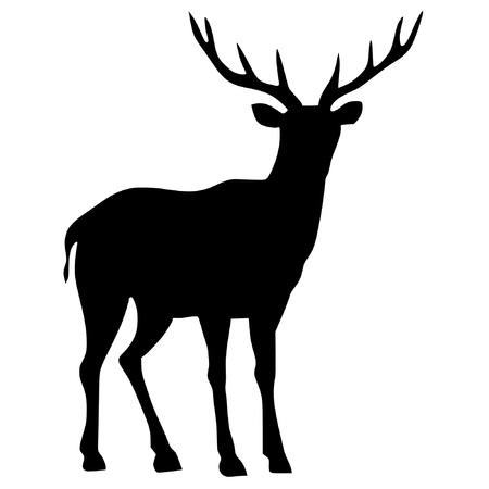 venado: una silueta de color negro de la serie de los animales, el venado