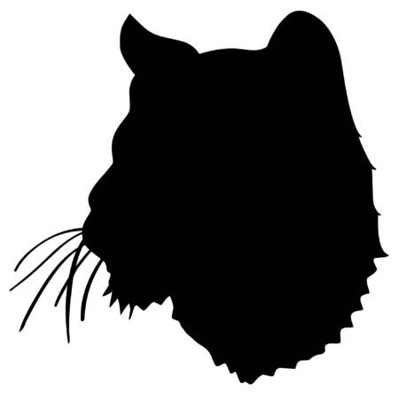 a black silhouette of serie of animals, lion