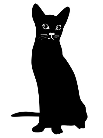 serie: a black silhouette of serie of animals, cat