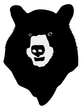 bear silhouette: una sagoma nera di serie degli animali, orso