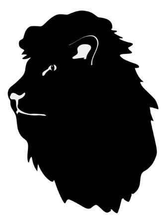 serie: a black silhouette of serie of animals, lion