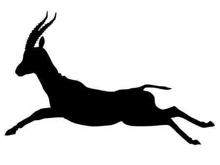 gazelle: a black silhouette of serie of animals, gazelle Illustration