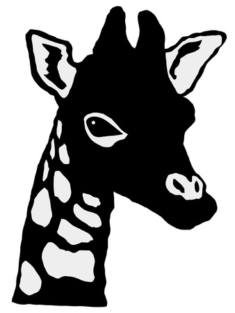 giraffe silhouette: a black silhouette of serie of animals, giraffe