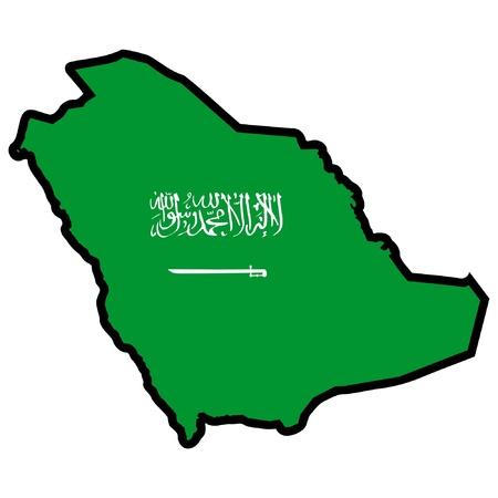 Saudi Arabia Map Flag Map of Saudi Arabia Vector