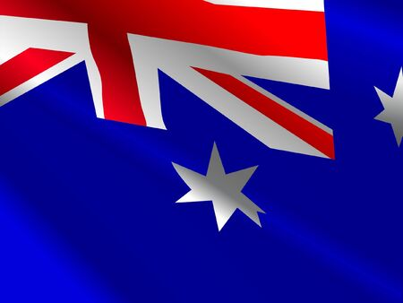 waiving: Waiving flag of Australia