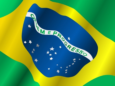 waiving: Waiving flag of Brazil
