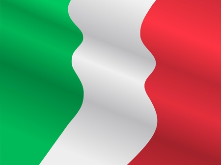 waiving: Waiving flag of Italy