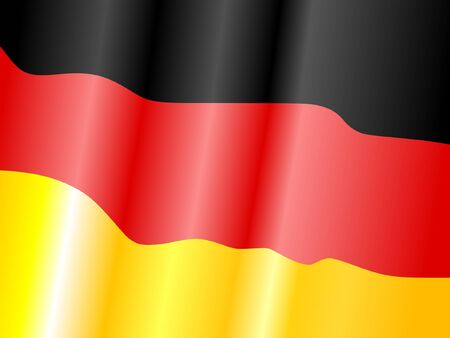 waiving: Waiving flag of Germany
