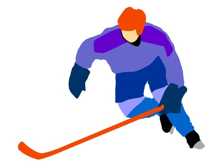hockey goal: hockey player