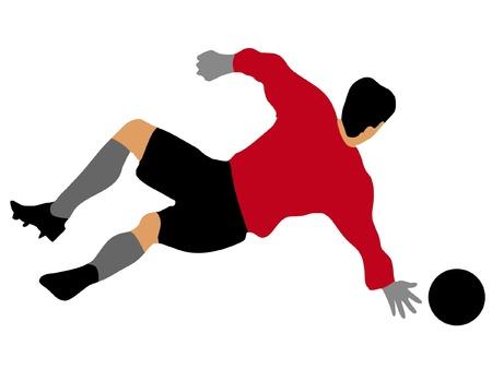 soccer goalkeeper Stock Vector - 11649140