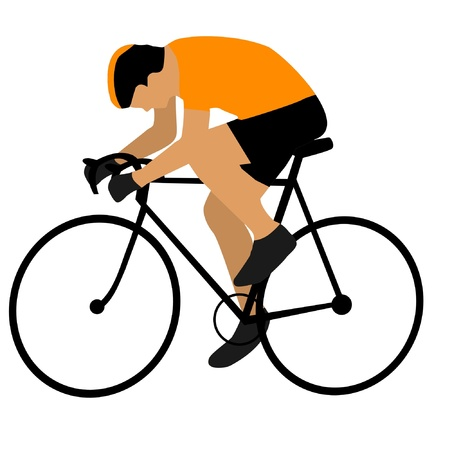 cyclist silhouette: cyclist Illustration
