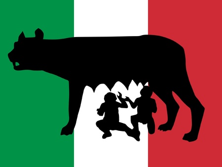 singularity: silhouette of symbol of Rome