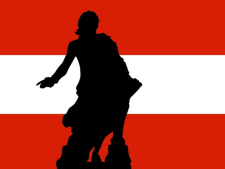 mozart: silhouette of Vienna Illustration
