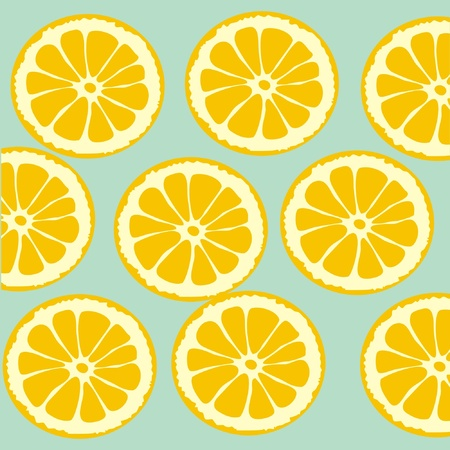 Background of lemon slices Vector