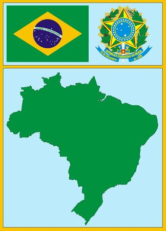 national attributes of Brazil Vector