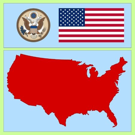 national attributes of USA Vector